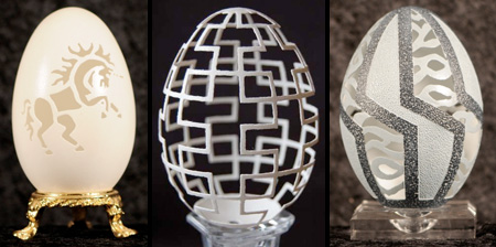 Amazing Eggshell Carvings