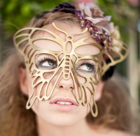 Butterfly Leather Mask
