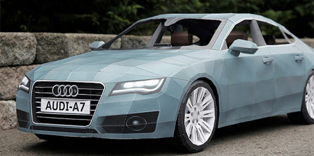 Audi Car Made of Paper