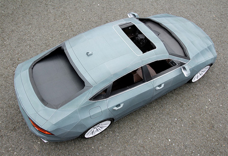 Audi A7 Papercraft Model