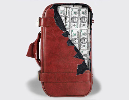 Cash Suitcase Sticker