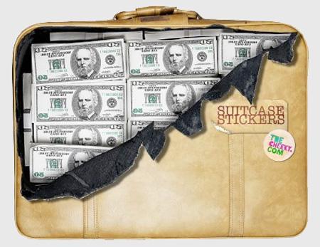 Money Suitcase Sticker