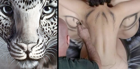 Animals Painted on Human Bodies
