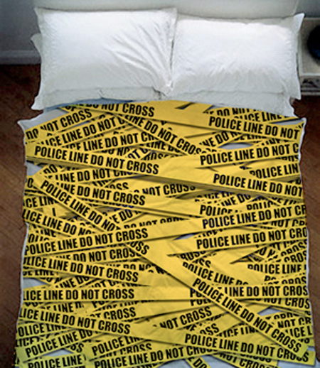 Police Tape Bed Sheets