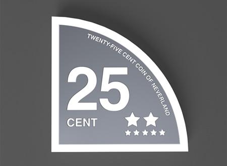 Twenty Five Cent Coin