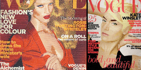 Hand Stitched Vogue Covers