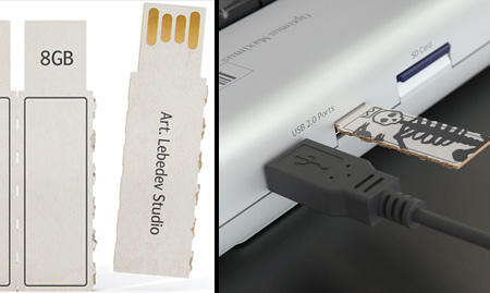 Cardboard USB Flash Drive