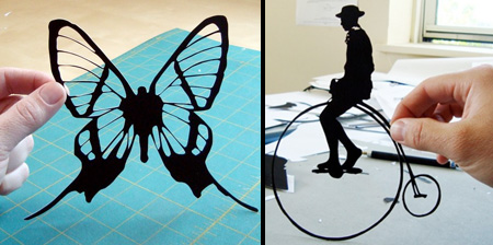 Hand Cut Paper Silhouettes
