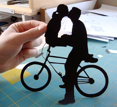 Paper Kissing Couple