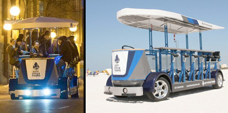 Human Powered Bar on Wheels