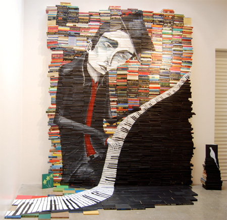 Stacked Books Painting