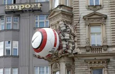 Crashed Nike Ball