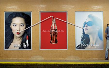 Coca-Cola Straw Poster