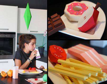 Food Made of Paper