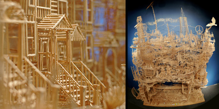 San Francisco made of Toothpicks