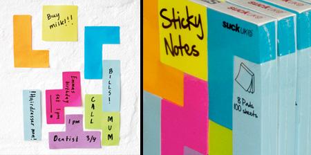Tetris Inspired Sticky Notes