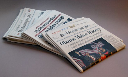 Wooden Newspaper
