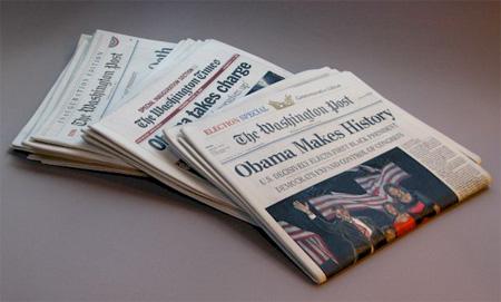 Wooden Newspaper