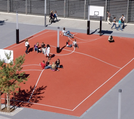 Unique Basketball Court
