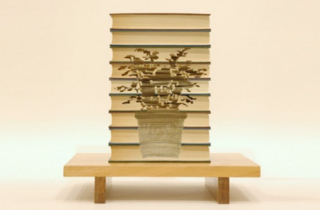 Stacked Books Art