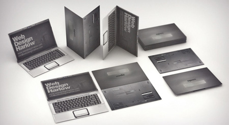 Laptop Business Card