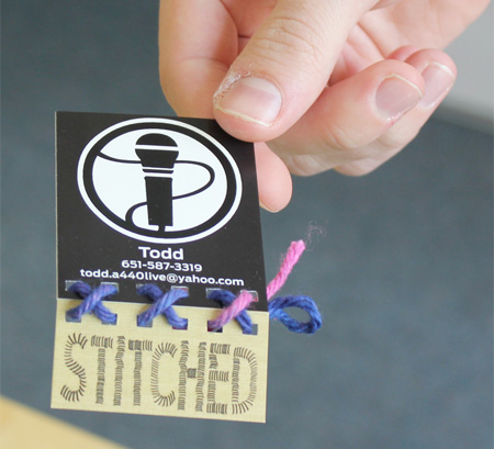 Stitched Business Card
