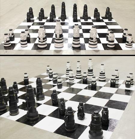 Camera Lens Chess Set
