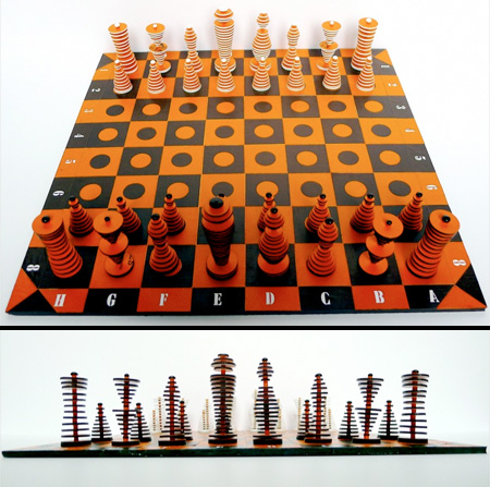 Cardboard Chess Set