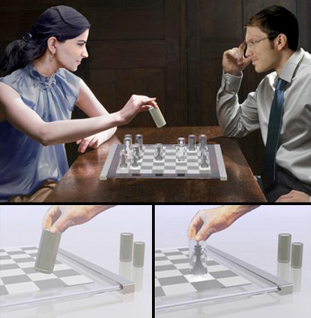 Transparent Chess Set