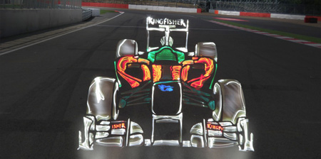 Formula 1 Light Paintings
