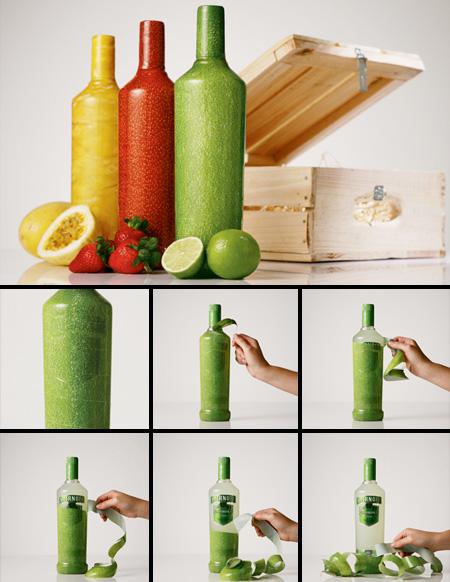 Smitnoff Peelable Bottles