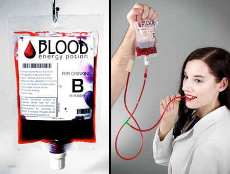 Blood Bag Energy Drink