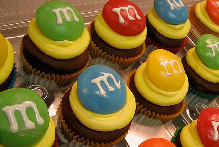 MandMs Cupcakes