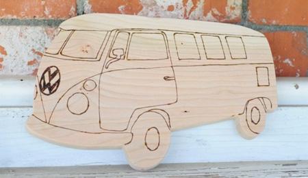 VW Bus Cutting Board