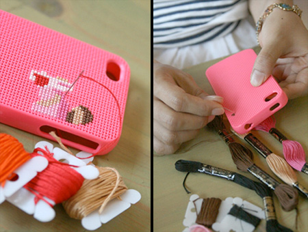 Cross Stitch DIY iPhone Case