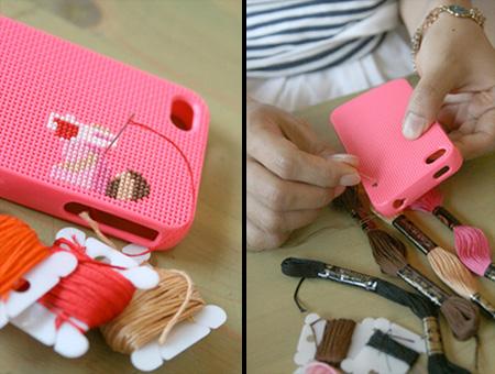 Cross Stitch DIY iPhone Case
