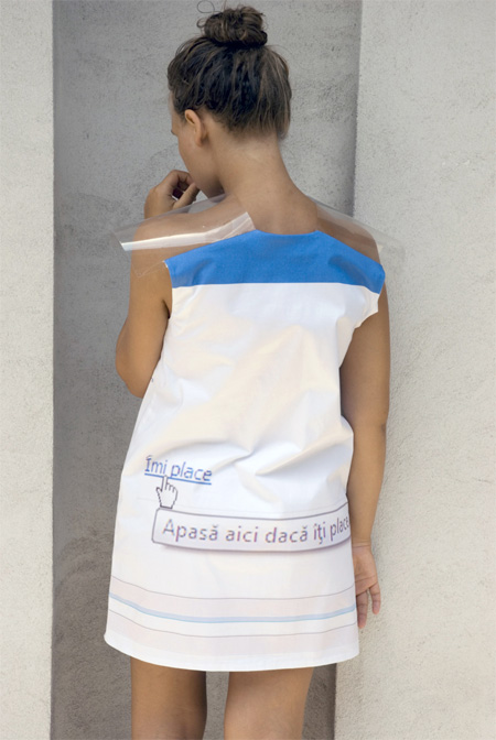 Facebook Themed Dress