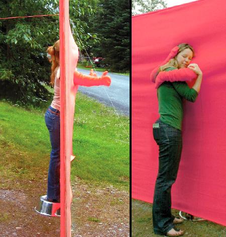 Hugging Wall