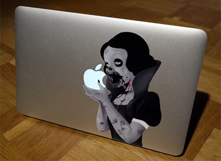 Zombie Princess MacBook Sticker