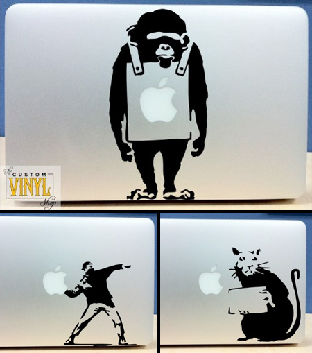 Banksy MacBook Stickers