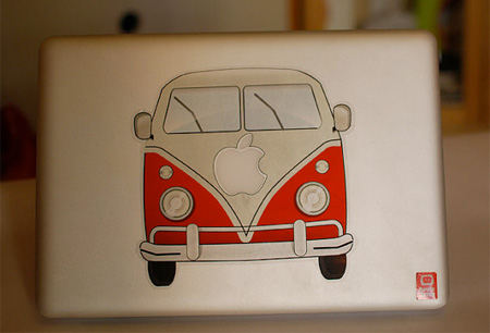 VW Bus MacBook Sticker