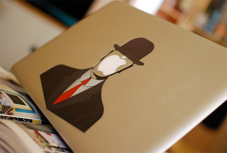 Man in a Hat MacBook Sticker