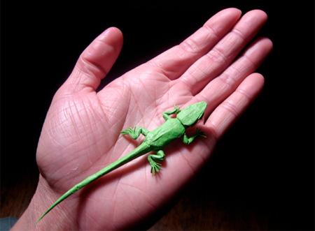Lizard Origami