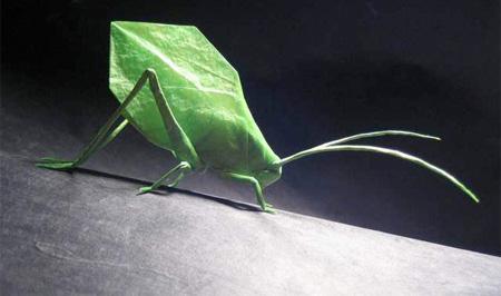 Leaf Katydid Origami