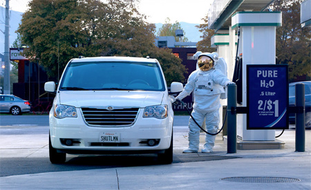 Astronaut at Gas Station