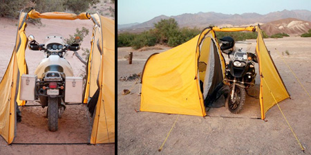 Tent for Motorcycle Riders & for Motorcycle Riders