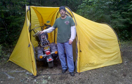 Biker C&ing Tent. Motorcycle Tent & Tent for Motorcycle Riders