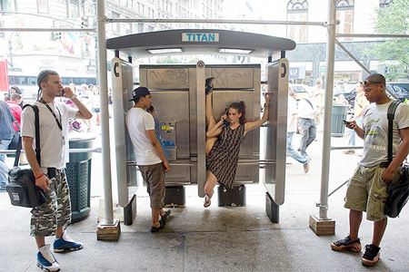 Dancer Phone Booth