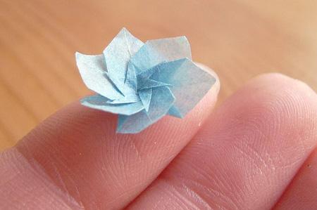 Miniature origami origami flower mightylinksfo