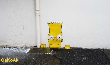 Bart Simpson Street Art